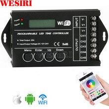 TC420 TC421 TC423 Программируемый RGB светодиодный контроллер Диммер DC12V/24 В 5 каналов общий анод для RGB светодиодный светильник аквариумный светильник ing