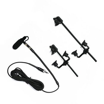 Free - Shipping Pro Saxophone Stage Performance Instrument Clip Capacitor Microphone Headset For Sennheiser 3.5 mm Screw Locking