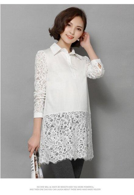 La gasa de maternidad blanco trabajo de encaje blusa camisa embarazada embarazo maternidad blusas muj gestantes roupas blusaer embarazada