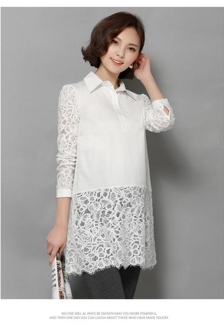 White Maternity Chiffon Lace Work blouse pregnant shirt pregnancy wear maternidad blusas muj gestantes roupas blusaer embarazada