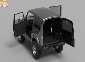 Image 4 - RC car Capo sixer1 kit crawler 스즈키 지미 사무라이 1/6 크롤러 완전 금속 무료 배송