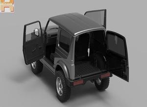 Image 4 - RC car Capo sixer1 kit crawler Suzuki  Jimny Samurai 1/6 crawler fully metal free shipping