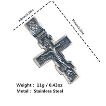 Restock Unisex 316L Stainless Steel Silver Newest Jesus Christ Cross Bible Newest Pendant(China)