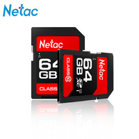Netac Camera SD Card 64GB Memory Card 64 gb Full HD 4K DJ Music Dropshipping carte sd cartao de memoria for Digital DSLR Camera
