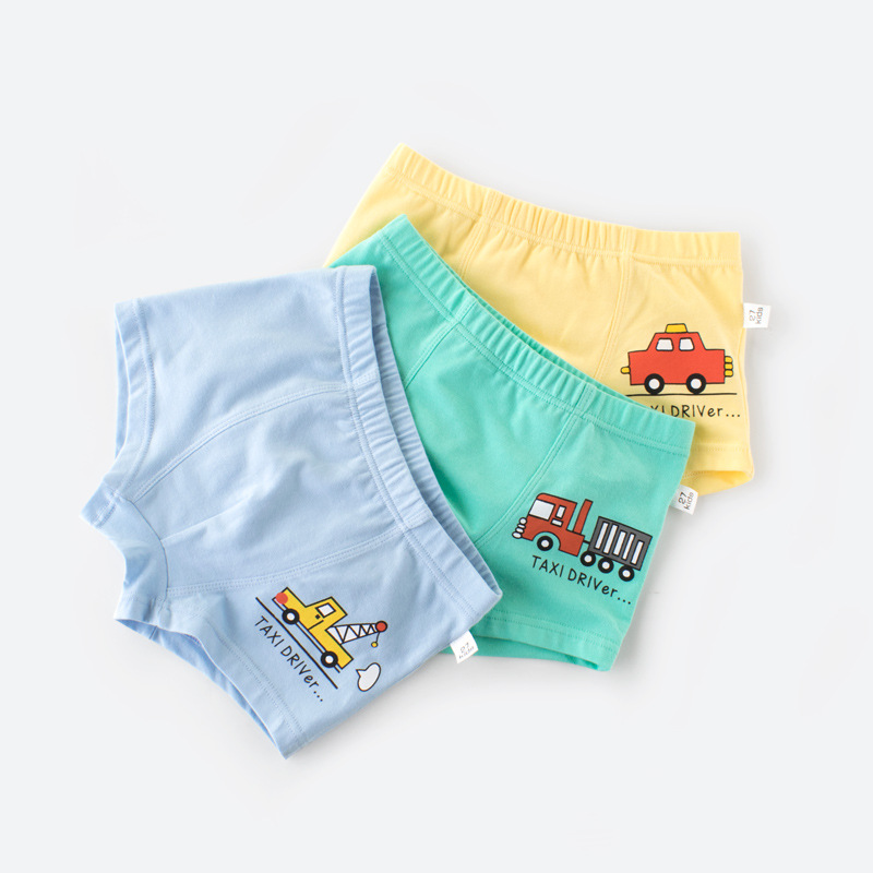 3pcs/lot Quality Boys Underpants Cartoon Car Printed Cotton Boxer Panties for Boys Short Briefs Brand Underwear Kids Clothing