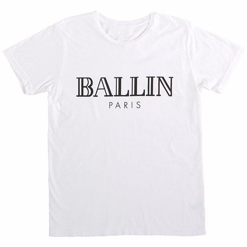HTB1OI HMXXXXXb7XFXXq6xXFXXXU - Women Top Printed Summer Letter Ballin Paris Tee Shirt