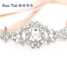 Fashion Hair Jewelry For Bridal Oval Drop Headband Austrian Crystal Tiara Head Wedding Bridesmaid Hair Accessory Free Shipping
