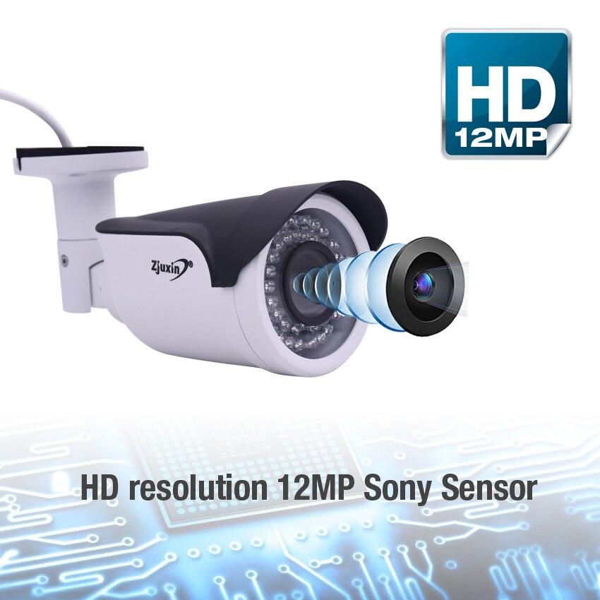 Zjuxin SONY 226 CMOS+HI3519 chip 12MP 4000x3000 HD 4K 3.6-11mm motorized lens P2P IP CCTV POE CAMERA IR 25M night vision IP66 видеокамера sony fdr x1000v 4k