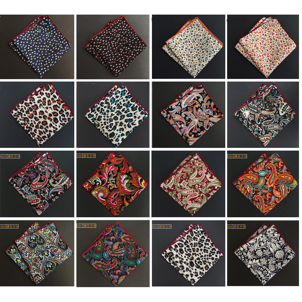 Mens Classic Floral Flower Paisley Handkerchief Pocket Square Wedding Hanky HZTIE0245