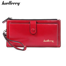 Women Long Wallets Solid Leather (5 colors)