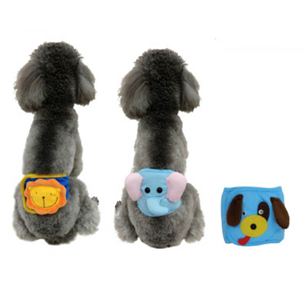 Cartoon Courtesy Paragraph Male Dog Physiological 3 Styles 3 Sizes Pants for Pets Physiological Anti-harassment Dogs Diapers