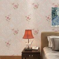 New 10m 53cm High Grade European Rural Style Vintage Flowers Non Woven Wallpaper 3d Sitting Room