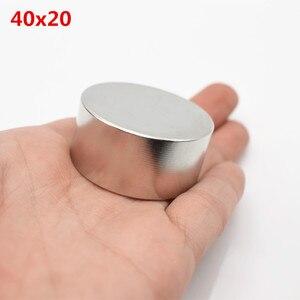 Image 5 - Magnete al neodimio 40x20 2pcs terre rare super forte potente ciclo di saldatura di ricerca permanente magnete 40*20mm gallio metallo magnete