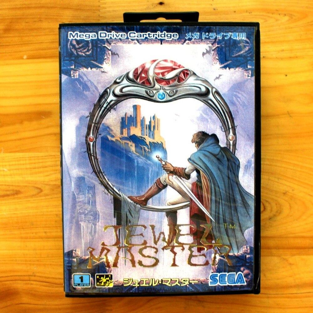 Jewel Master 16 Bit SEGA MD Game Card With Retail Box For Sega Mega Drive For Genesis