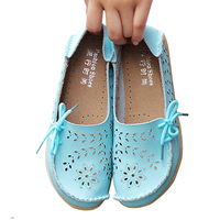 2017 New Women Leather Shoes Moccasins Mother Loafers Soft Leisure Flats Female Driving Casual Footwear DTT679