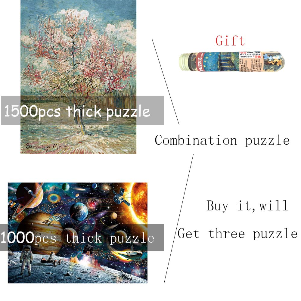 1000pcs1500pieces Paper thicker Earth puzzle Combination set 1000 piece Puzzle Peach Adult Educational Toy Gift for Halloween puzzle 1000 найди 10 львов 79807