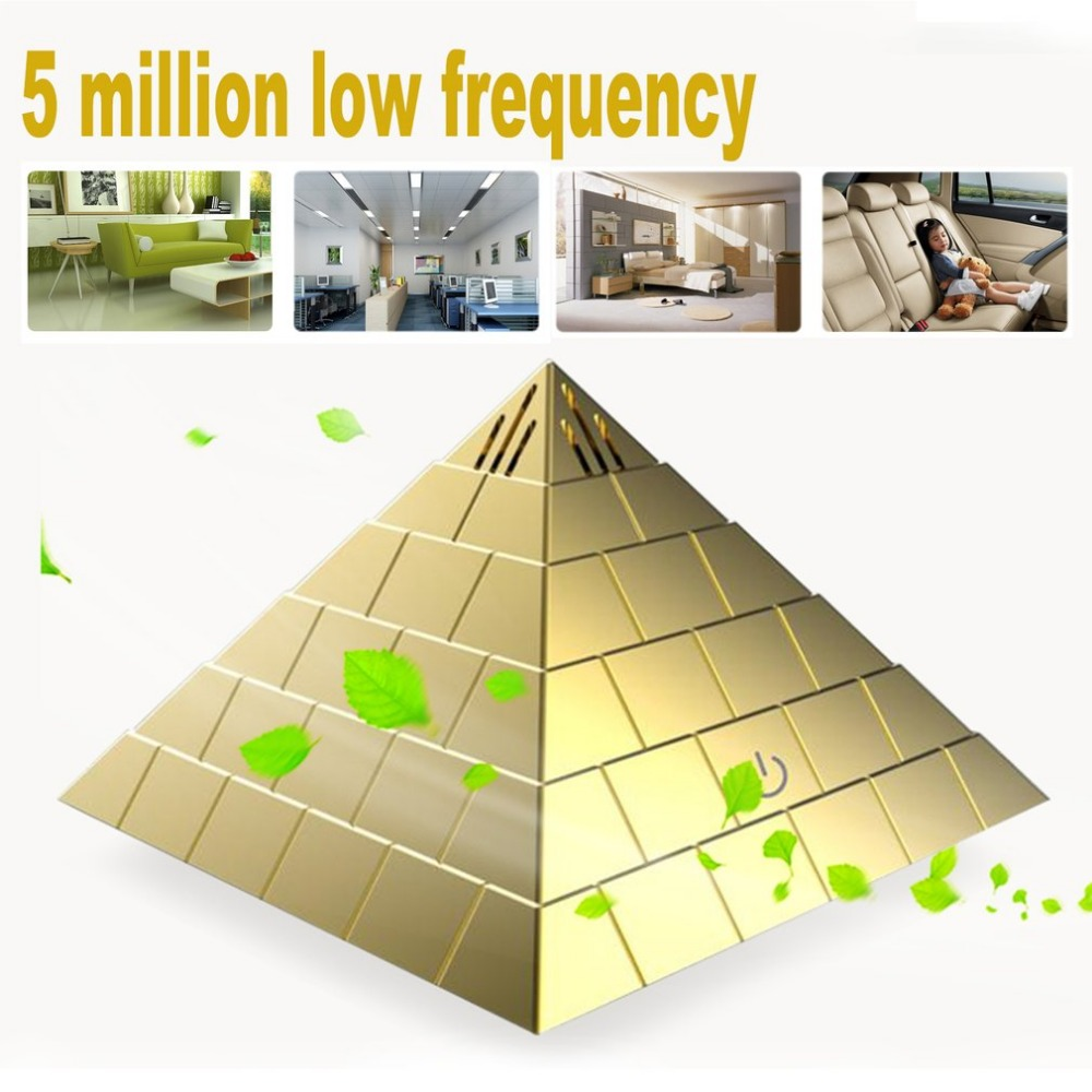 Stylish Innovative Pyramid Shape Mini USB Auto Air Purifier Cleaner Car Styling Car Air Freshener For Car Office And Home