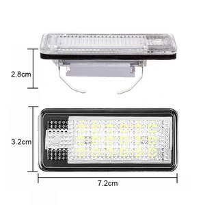 Image 3 - 2pcs Waterproof 18 LEDs Number Plate Light For Audi A3 A4 A5 A6 A8 B6 B7 Q7 White Car LED Number License Plate Lamps