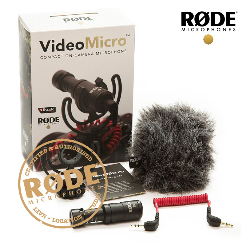 Rode VideoMicro Compact On-Camera Recording Microphone for Canon Nikon Lumix Sony Osmo DSLR Camera mic with mic amount rode videomicro compact on camera recording microphone for canon nikon lumix sony dji osmo dslr camera microfone i phone 6s