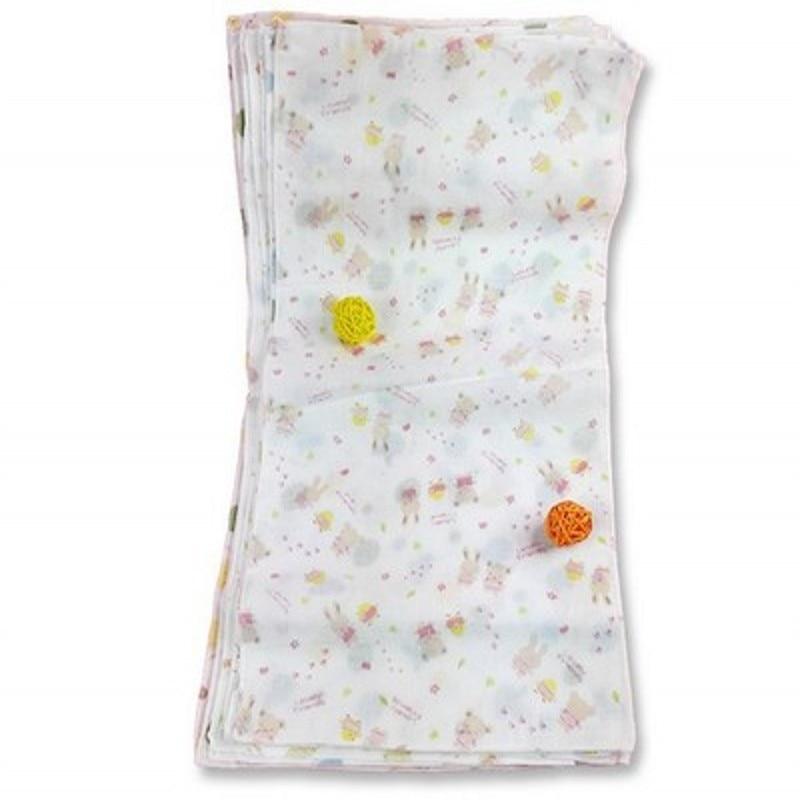 10pcs/lot Cute Gauze Saliva Towel High Density Sponge Baby Handkerchief Double Towel Bath Towel for Newborn Infants 25*50CM