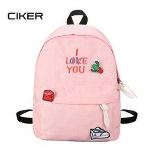 Ciker модная женская текстильная рюкзак женский рюкзак печати рюкзаки для девочек-подростков Повседневная дорожные сумки Mochilas SAC DOS