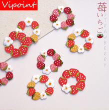 VIPOINT embroidery strawberry donut patch fruits flower patches badges applique for clothing LX-1