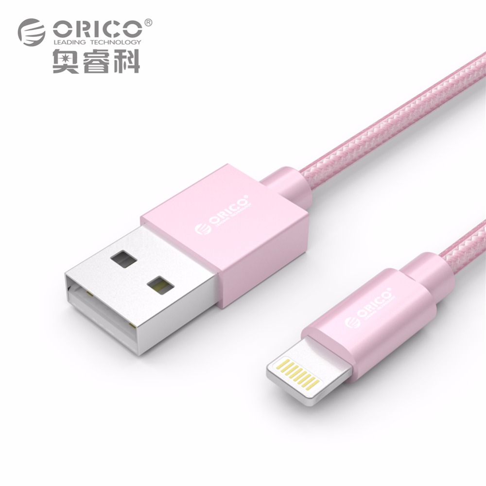 FOR iPhone USB Cable iOS 10, ORICO USB TYPE-A to Lighting 8-pin data sync charger cable for iPhone 5 5S 6 6S Plus 7 7 Plus iPad