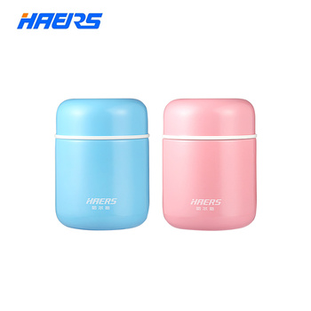 Haers Candy Color Food Soup Thermos BPA-free  Stainless Steel Vacuum Thermos Lunch Box for Kids 280ml 400ml
