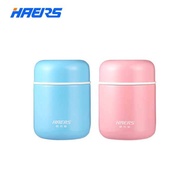 Haers Candy Color Food Soup Thermos BPA free  Stainless Steel Vacuum Thermos Lunch Box for Kids 280ml 400ml