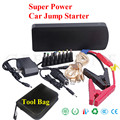 Gasoline diesel 18000mAh Car Jump Starter 800A Peak Emergency Power Bank Battery Booster Charger for phone laptop SOS light