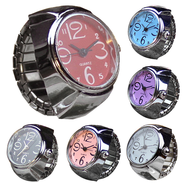 New Classic Couple Ring Watches Simple Quartz Watch Finger Ring Wristwatches Lov
