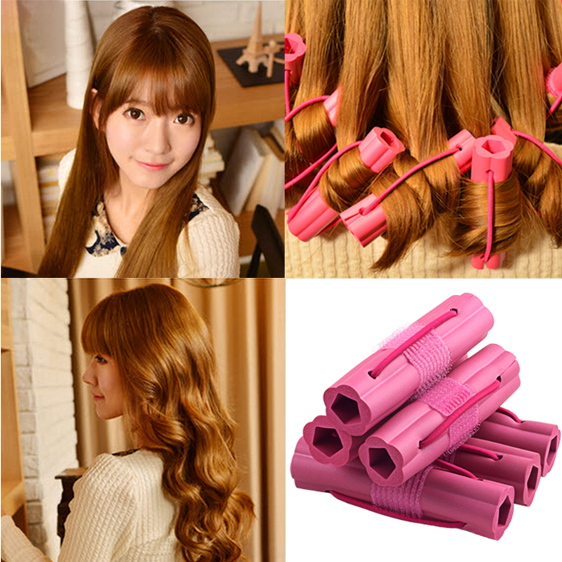 6pcs bag Curler Makers Soft Foam Bendy Twist Curls Diy Styling Sponge Hair Rollers Tool For