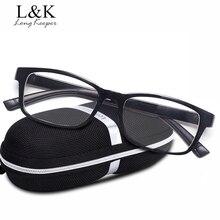 Long Keeper Men Women's Square Eyeglasses Clear & Night Vision Lens Unisex Glasses Frame Men Driving Googles gafas de grau