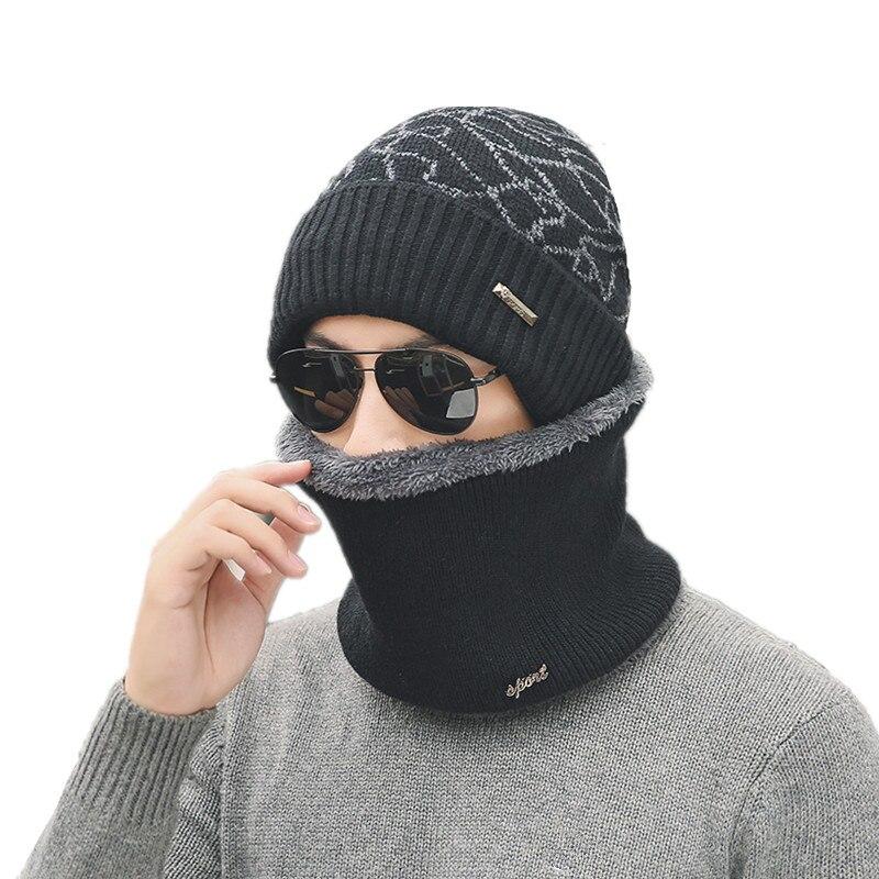 warm Winter Hat   Skullies     Beanies   Hats Winter   Beanies   For Men Women Wool Scarf Caps Balaclava Mask Gorras Bonnet Knitted Hat