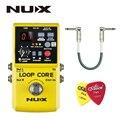 NUX Loop Core  педаль гитарного эффекта  Looper  6 часов записи  99 пользовательских воспоминаний  барабанные узоры с TAP Tempo с подарком