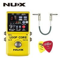 NUX Loop Core Guitar Effect Pedal Looper 6 Hours Recording Time 99 User Memories Drum Patterns