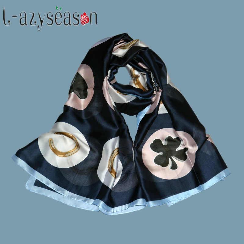 Nuove donne di marca di inverno Sciarpa di seta di estate Sciarpe scialli involucri della signora pashmina beach stole foulard Stampa hijab wrap 180X90 CENTIMETRI