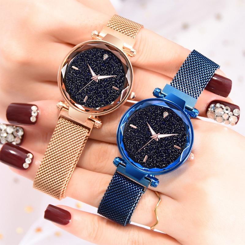 Luxury Women Watches Ladies Starry Sky Watch With Magnetic Strap Female Wristwatch Relogio Feminino Reloj Mujer