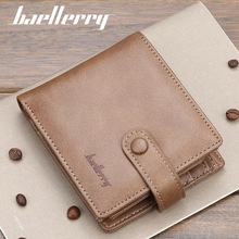 Baellerry Fashion Men Wallets Business Casual Male Short Purse Hasp Credit Card Holder Wallet цены