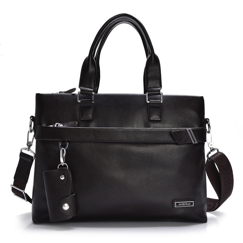 Men Briefcase PU Leather Men's Handbag Men Business Bag Male Shoulder Messenger Bag Men Crossbody Bags Large Capacity Laptop Bag