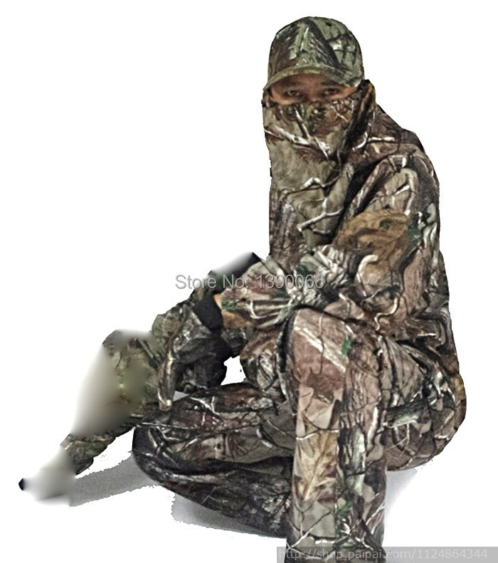 Sniper tactical Waterproof Camouflage clothing Hunting clothes Jacket and Pants woodland ghillie suit for camping hiking military camouflage ghillie suit woodland grass hay style paintball leaf jungle sniper clothes hunting tactical shade clothing
