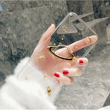 Luxury Glitter Cute Space Planet Phone Case For iPhone X XR XS MAX 6 6S 7Plus Clear Soft Silicone Back Cover 7 8 Plus