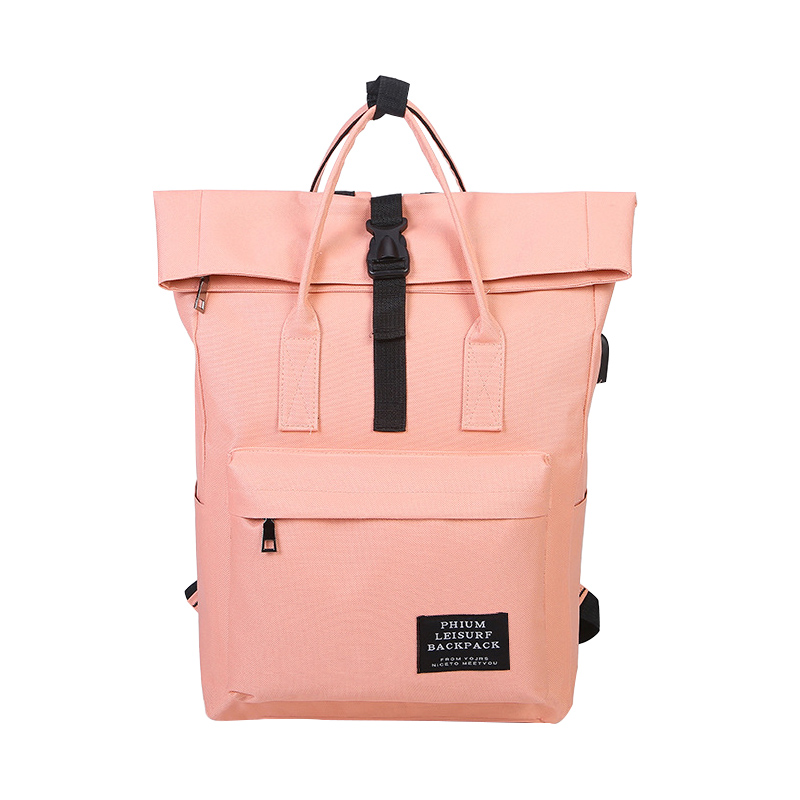 BUCHNIK Women External USB Charge Backpack Canvas Bag Male Mochila Escolar Girls Laptop  ...