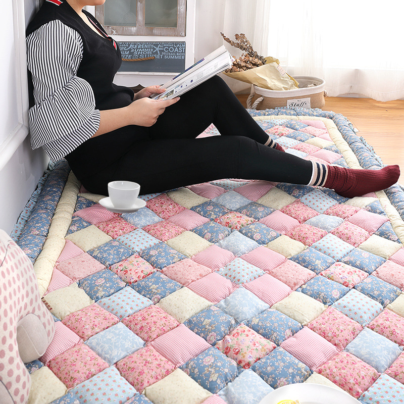 Coréen coton tapis salon campagne maison chambre tapis épais PP coton Tatami tapis enfants chambre ramper tapis de sol