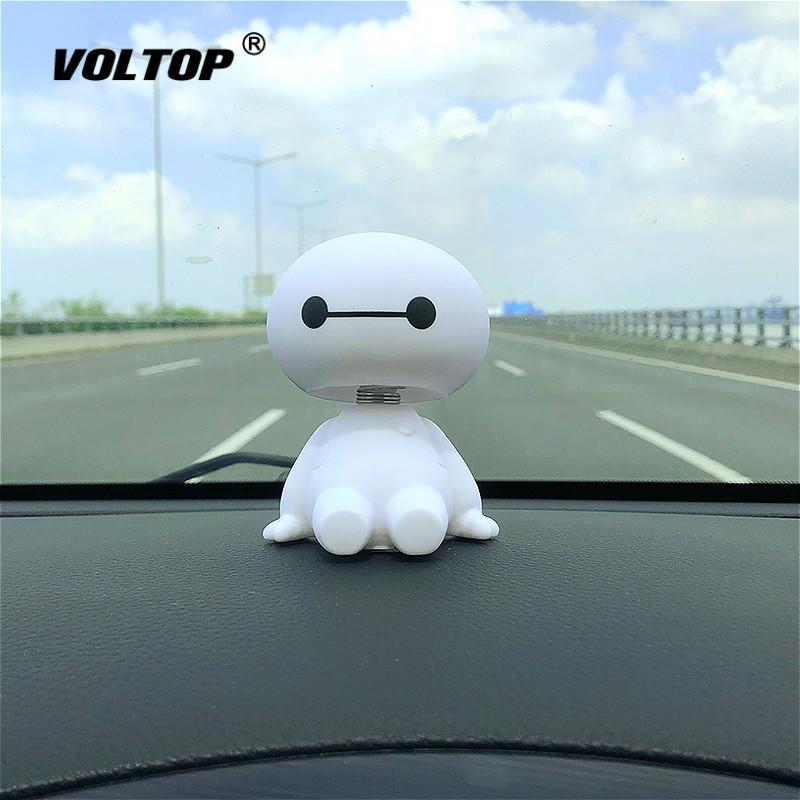 Cartoon Robot Shaking Head Car Interior Dashboard Decoration Ornament Accessories for Girls Hanging Pendant-in Ornaments from Automobiles & Motorcycles