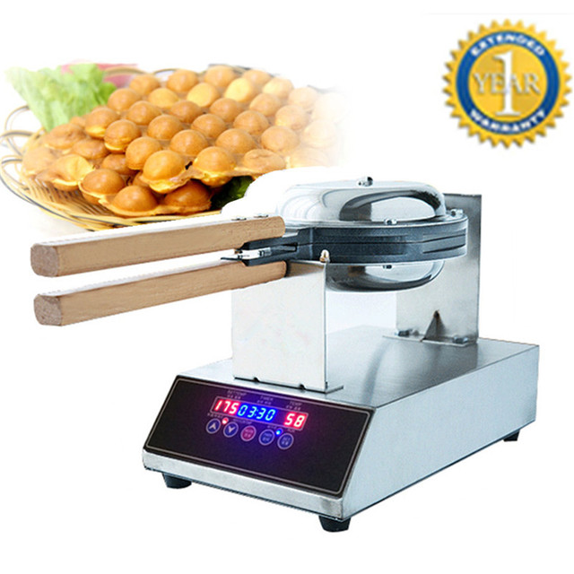 Brand New Egg Bubble Waffle Maker Machine 110V 220V Digital Display Eggettes Waffle Maker Egg Seed Roaster Waffle Machine