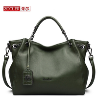 ZOOLER Luxury Handbags Genuine Leather Hobo Bag Elegant Fashion Soft Casual Tote Top Handle Shoulder