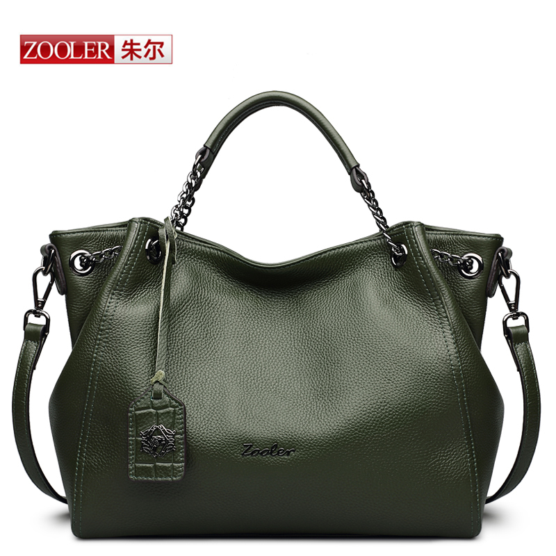 HOT-ZOOLER Luxury woman bags Genuine Leather Bag  Hobo Fashion Soft Casual Tote Top-handle Shoulder Bags bolsos mujer#8130