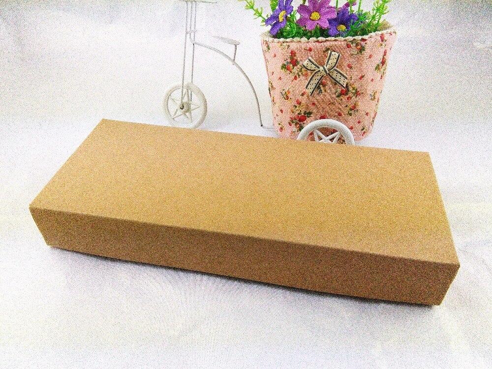 DIY Handmade Dárkové krabice 29X12.3X4cm větší Kraft papír Dárková krabička Prázdné balení Kartonová krabice pro ozdoby / Šátek / Tie12PCS / Lot