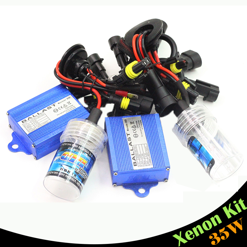 Cawanerl 35W 880 881 Conversion XENON HID KIT Ballast  Bulb Car Headlight Fog Lamp Daytime Running Light DRL 3000K - 15000K slim hid xenon ballast 880 4300k headlight kit conversion bulbs 35w [c476]